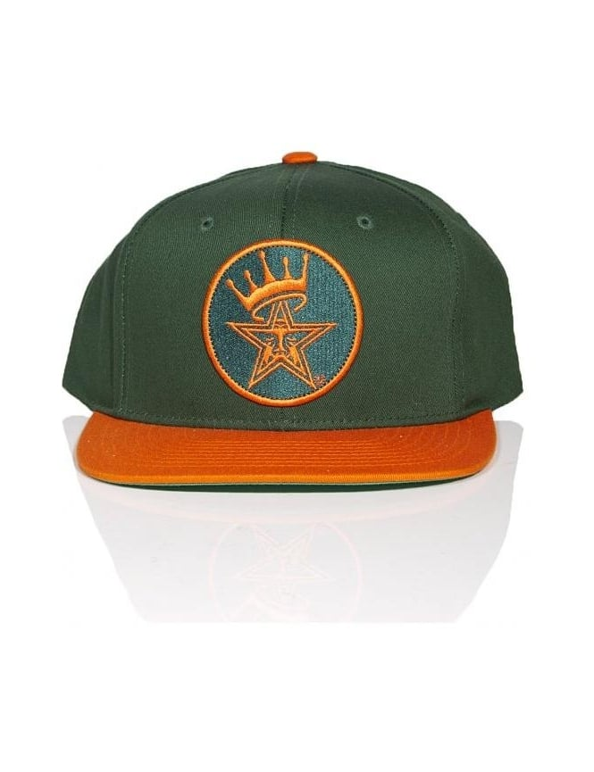Obey Clothing Ordained Snapback - Green/Orange