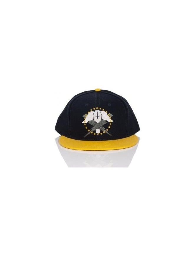 Flying Coffin Bolts Snapback - Navy/Yellow