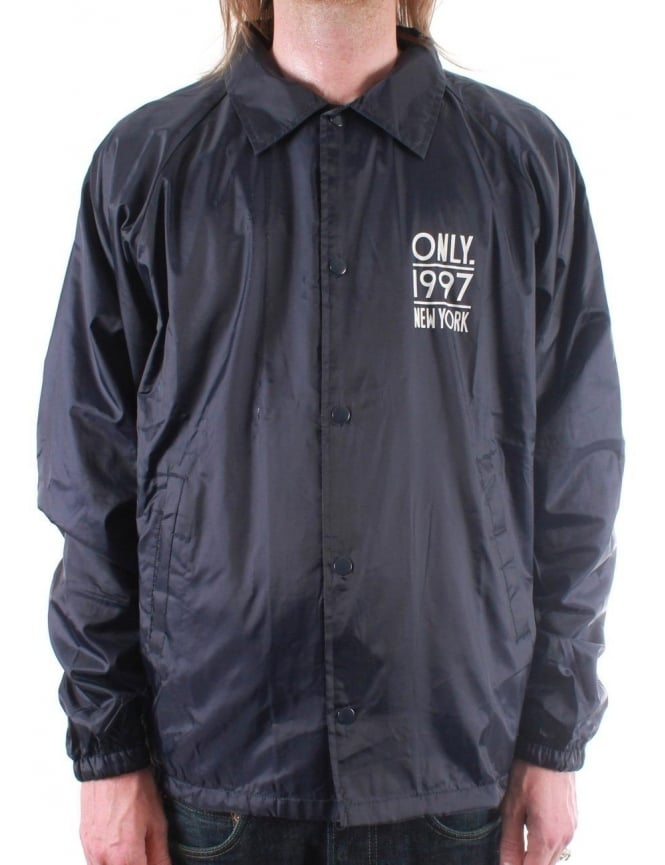 Only NY Clothing City Beach Coach Jacket - Navy