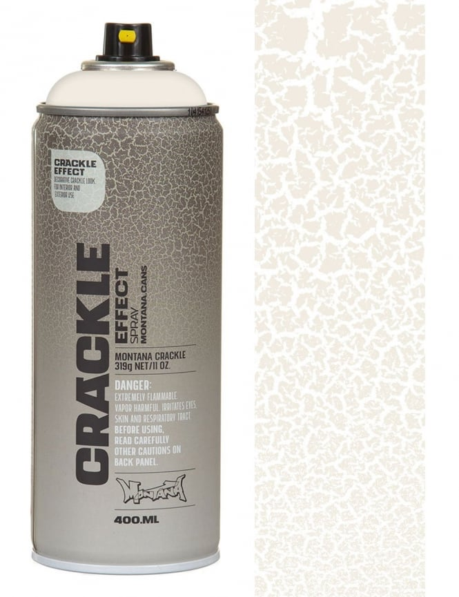 Montana Gold Pure White Crackle Effect Spray Paint 400ml Spray Paint Supplies From Iconsume Uk