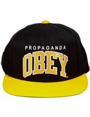 Obey Clothing Throwback Snapback - Black/Gold