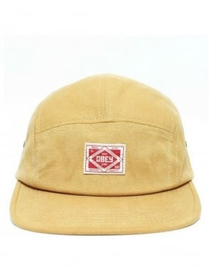 Obey Clothing Trademark Five Panel Hat - Amber Gold