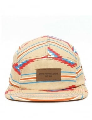 Obey Clothing Native Five Panel Hat - Khaki - Navajo