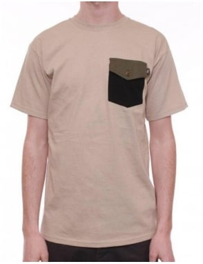 Flying Coffin Surplus Pocket T - Sand
