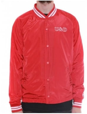 Undefeated U & D Coaches Jacket - Red