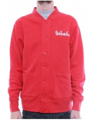 The Hundreds Gone Fleece Cardigan - Red