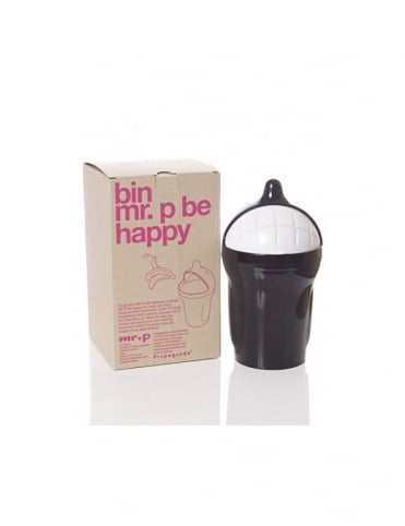 Mr P Propaganda Mr P Be Happy Bin - Black