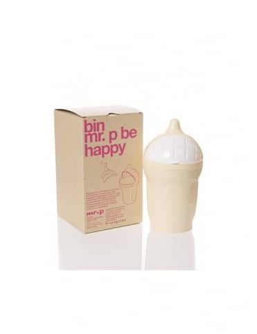 Mr P Propaganda Mr P Be Happy Bin - Cream