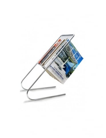 J-Me Gifts Float Magazine Rack - Chrome