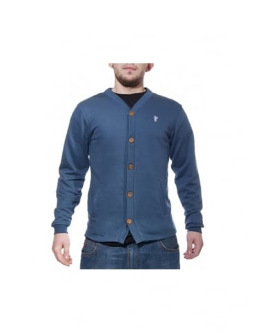HUF French Terry Cardigan - Navy