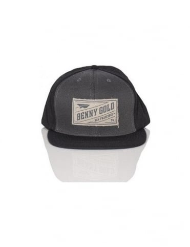 Benny Gold Stamp Snapback - Grey/Black