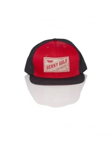 Benny Gold Stamp Snapback - Red/Black