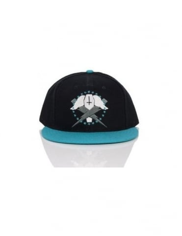 Flying Coffin Bolts Snapback - Black/Teal