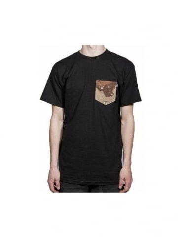 Flying Coffin Camo Pocket Tee - Black