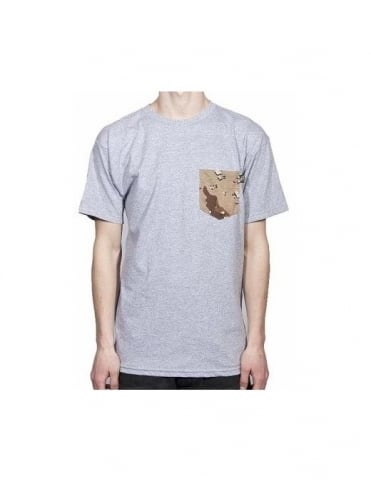 Flying Coffin Camo Pocket Tee - Heather Grey