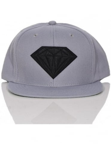 Diamond Supply Co Emblem Snapback - Grey/Black