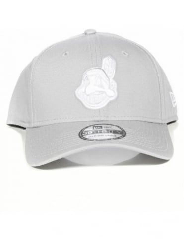 New Era 39Thirty - Cleveland Indians - Grey/White