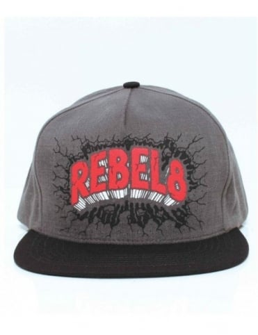 Rebel8 Clothing On Blast Snapback - Grey/Red