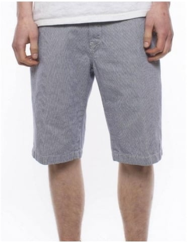 Carhartt Unit Bermuda Shorts - Blue Yazoo Stripe