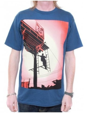 Obey Clothing Shepard Billboard Tee - Patrol Blue