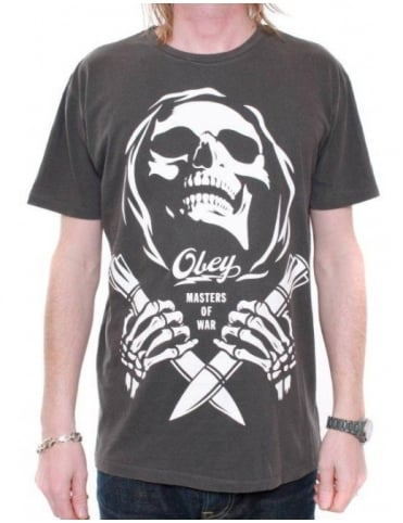 Obey Clothing Masters of War Tee - Dusty Black