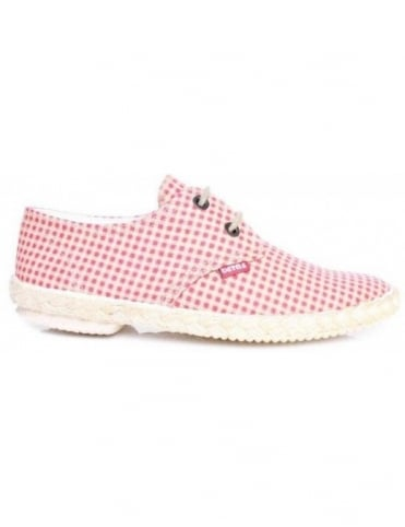Veras Seville - Red Check Lace Up