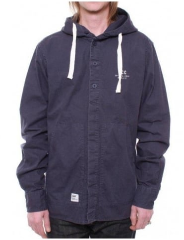 Addict Clothing Hooded Deck Overshirt - Navy