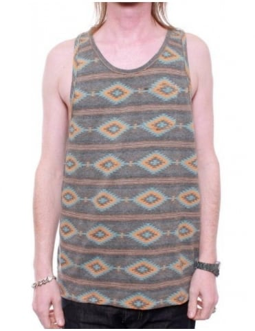 Obey Clothing Indian Summer Vest - Heather Charcoal