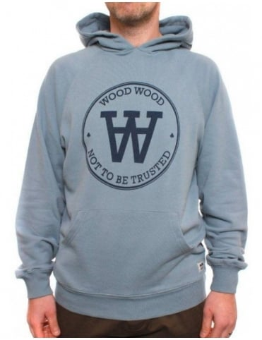 Wood Wood Flemming Hoodie 121 To Be - Dusty Blue