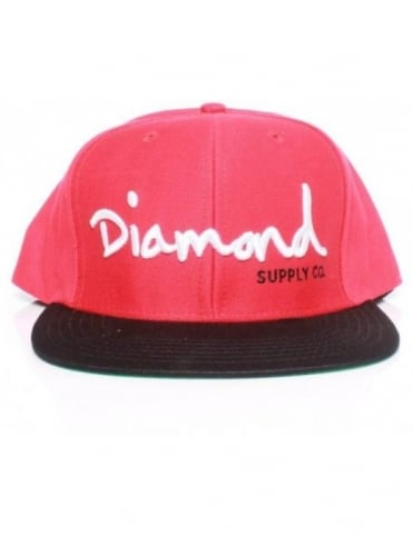 Diamond Supply Co OG Logo Snap - Red