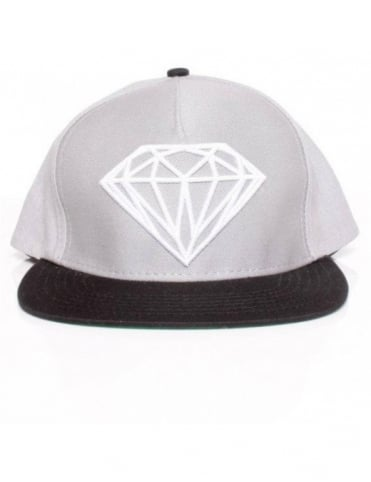 Diamond Supply Co Brilliant Snapback - Grey/Black/White
