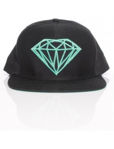 Diamond Supply Co Brilliant Snapback - Black/Diamond Blue