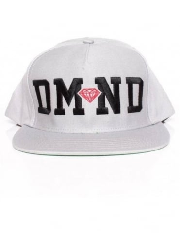 Diamond Supply Co DMND Snapback - Grey/Black/Red