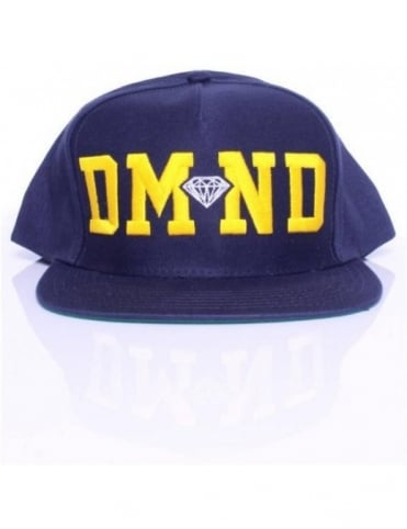 Diamond Supply Co DMND Snapback - Navy/Yellow/White