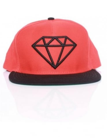Diamond Supply Co Rock Snapback - Orange/Black