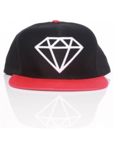 Diamond Supply Co Rock Snapback - Black/Red/White