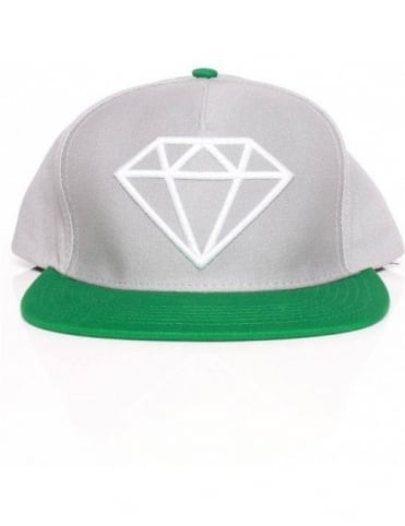 Diamond Supply Co Rock Snapback - Grey/Green/White