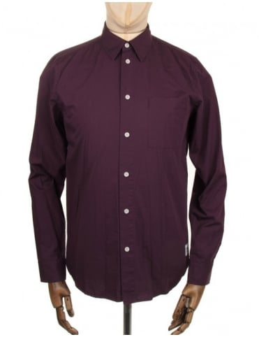 Wood Wood Timothy Shirt - Plum Perfect
