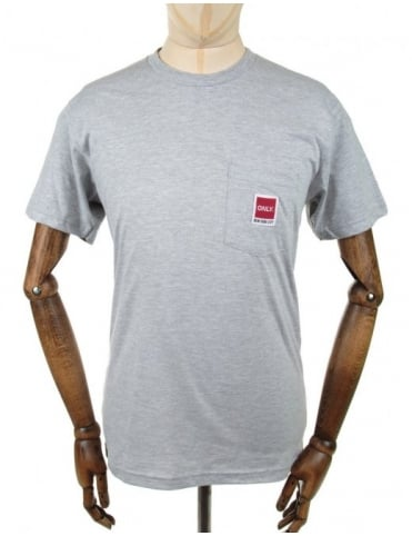 Only NY Clothing Messenger Pocket Tee - Heather Grey