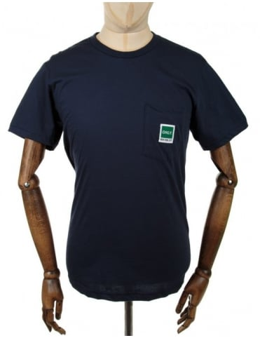 Only NY Clothing Messenger Pocket Tee - Navy