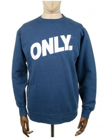 Only NY Clothing Volley Crewneck Sweatshirt - Mystic Blue