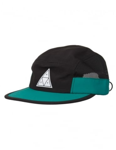 Huf Triple Triangle Side Mesh Volley Hat - Black/Green