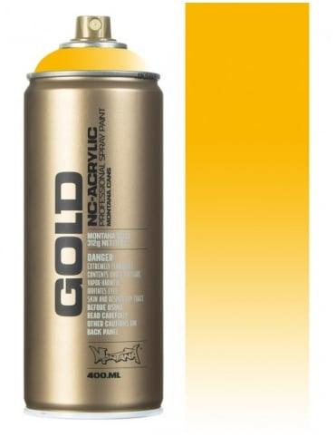 Montana Gold Transparent Yellow Cab Spray Paint - 400ml