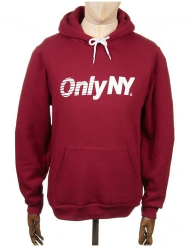 Only NY Clothing Express Logo Hooded Sweat - Cranberry