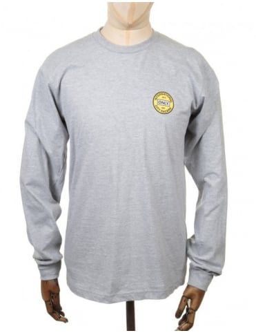 Only NY Clothing L/S City Racers T-shirt - Heather Grey