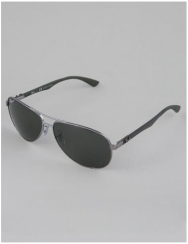 Ray-Ban RB8313 Tech Carbon Fibre Sunglasses - Gunmetal // Pol Gray Polarised