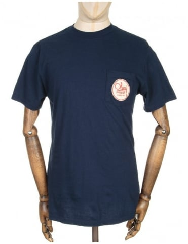Obey Clothing Octagon Script T-shirt - Navy