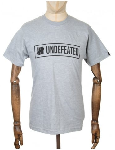 Undefeated Outline Logo T-shirt - Heather Grey