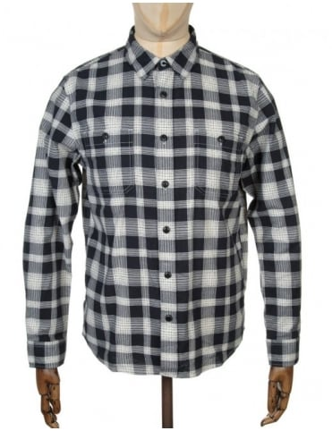 Edwin Jeans L/S Labour Shirt - Black Print Check