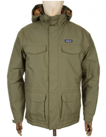 Patagonia Isthmus Jacket - Fatique Green w/Bear Brown